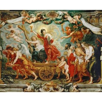 quadros religiosos - Quadro -El triunfo de la fe- - Rubens, Peter Paulus
