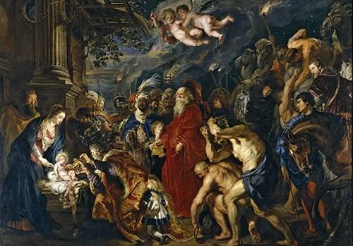quadros-religiosos - Quadro -La adoracion de los reyes magos- - Rubens, Peter Paulus