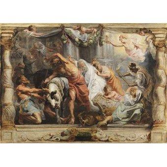quadros religiosos - Quadro -La victoria de la Eucaristia sobre la Idolatria- - Rubens, Peter Paulus