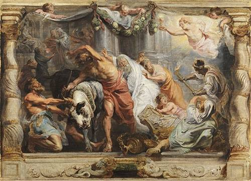 quadros-religiosos - Quadro -La victoria de la Eucaristia sobre la Idolatria- - Rubens, Peter Paulus