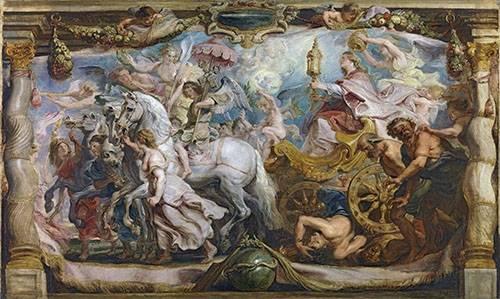 quadros-religiosos - Quadro -El triunfo de la iglesia- - Rubens, Peter Paulus