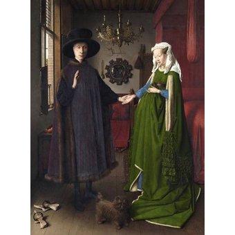 - Quadro -Retrato del matrimonio Arnolfini, 1434- - Van Eyck, Jan