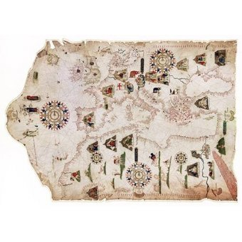 maps, drawings and watercolors - Picture -Mateus Prunes, 1559 - Chart of the Mediterranean, Black Sea, and the coasts- - Mapas antiguos