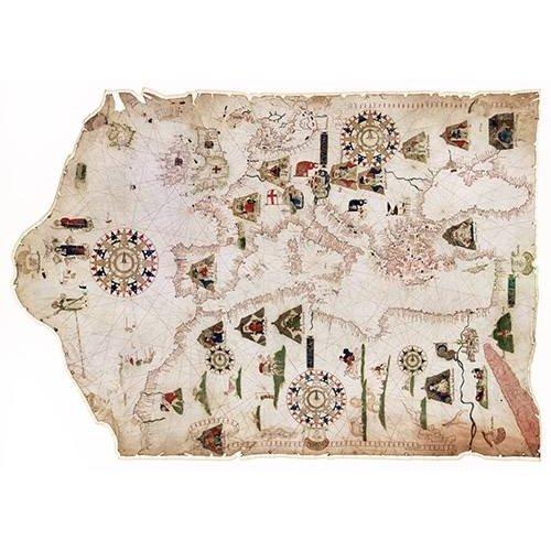 Quadro -Mateus Prunes, 1559 - Chart of the Mediterranean, Black Sea, and the coasts-