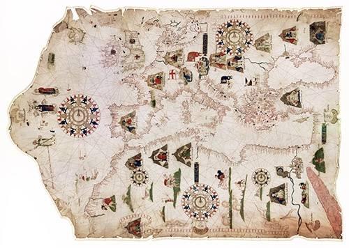 imagens-de-mapas-gravuras-e-aquarelas - Quadro -Mateus Prunes, 1559 - Chart of the Mediterranean, Black Sea, and the coasts- - Mapas antigos - Anciennes cartes