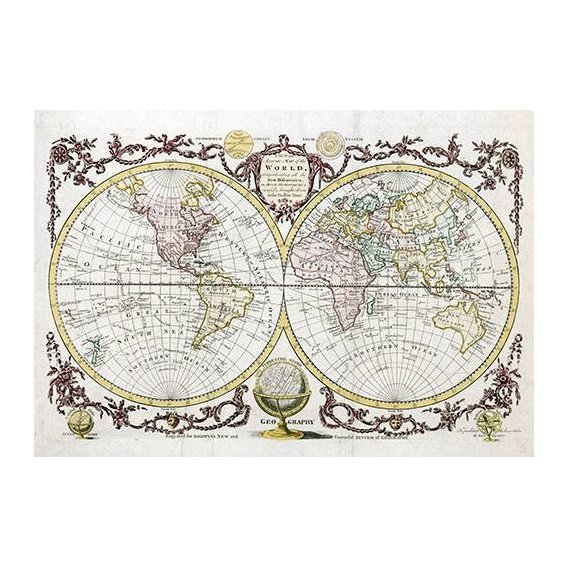 Quadro -Baldwyn, 1782 - Map of the World-