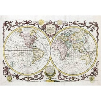 maps, drawings and watercolors - Picture -Baldwyn, 1782 - Map of the World- - Mapas antiguos