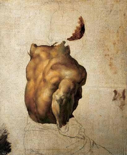 cuadros de retrato - Cuadro -Estudio de torso- - Gericault, Theodore