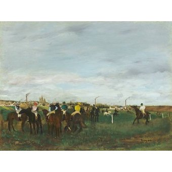 animals - Picture -The Races- - Degas, Edgar