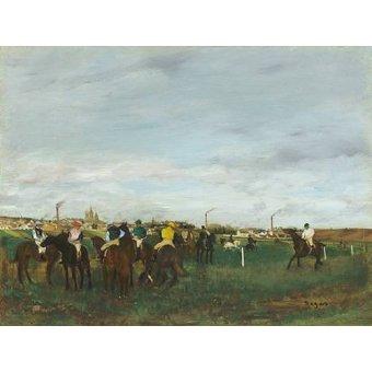 quadros de animais - Quadro -The Races- - Degas, Edgar