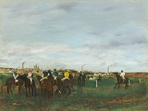 quadros-de-animais - Quadro -The Races- - Degas, Edgar