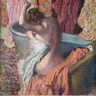 quadros nu artistico - Quadro -Após o banho- - Degas, Edgar