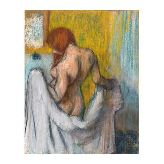 Quadro -Woman with a towel-