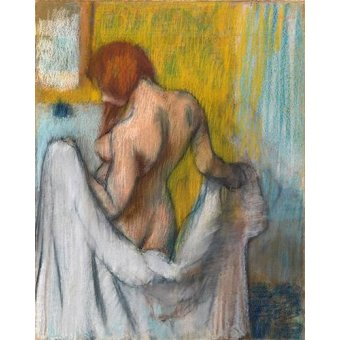 quadros nu artistico - Quadro -Woman with a towel- - Degas, Edgar