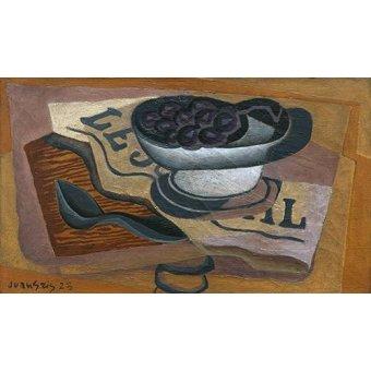 Quadros para sala de jantar - Quadro -Uvas Pretas, 1923- - Gris, Juan