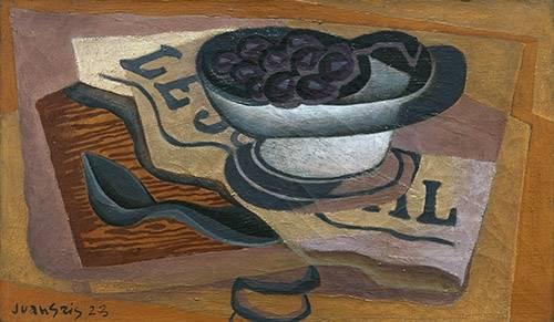 naturezas-mortas - Quadro -Uvas Pretas, 1923- - Gris, Juan