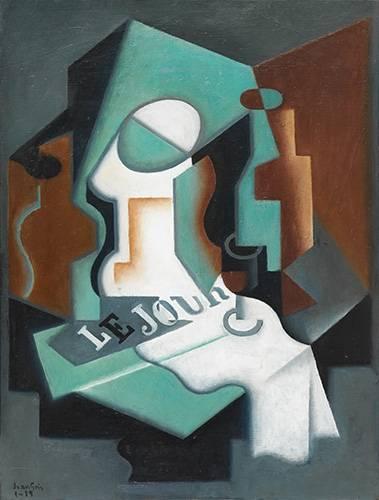 naturezas-mortas - Quadro -Garrafa e Fruteira, 1919- - Gris, Juan