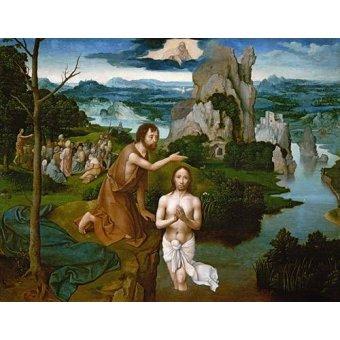 quadros religiosos - Quadro -Baptism of Christ_Bautismo de Cristo- - Patinir, Joachim