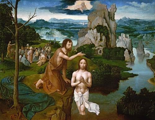quadros-religiosos - Quadro -Baptism of Christ_Bautismo de Cristo- - Patinir, Joachim