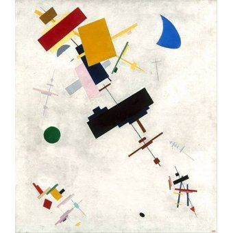 Quadros abstratos - Quadro -Suprematist Composition No.56, 1936- - Malevich, Kazimir S.