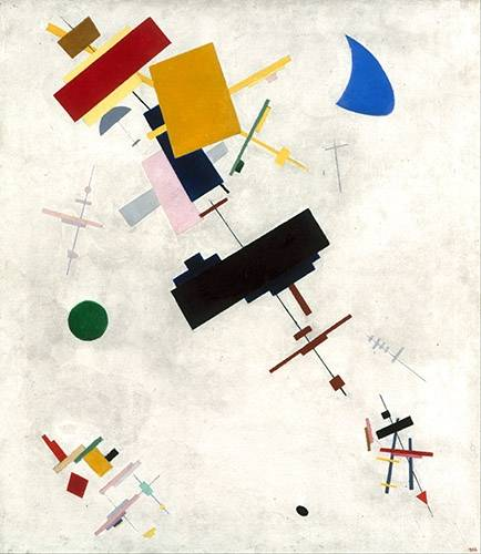 quadros-abstratos - Quadro -Suprematist Composition No.56, 1936- - Malevich, Kazimir S.