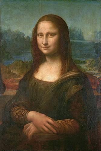 pinturas de retratos - Quadro -La Gioconda- - Vinci, Leonardo da