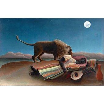 - Quadro -La gitana durmiente- - Rousseau, Henri