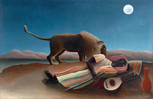 quadros-de-paisagens - Quadro -La gitana durmiente- - Rousseau, Henri