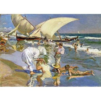 seascapes - Picture -Beach of Valencia by Morning Light- - Sorolla, Joaquin
