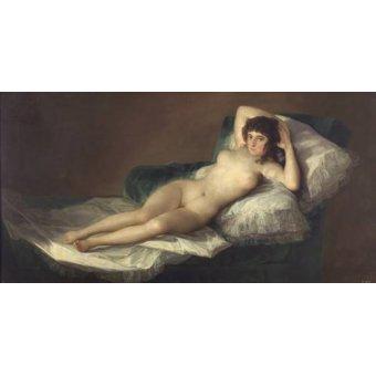 quadros nu artistico - Quadro -La maja desnuda- - Goya y Lucientes, Francisco de