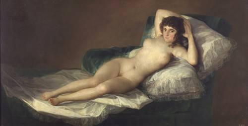cuadros de retrato - Cuadro -La maja desnuda- - Goya y Lucientes, Francisco de