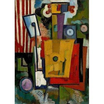 cuadros abstractos - Cuadro -Vida dos Instrumentos, 1916- - Souza-Cardoso, Amadeo de