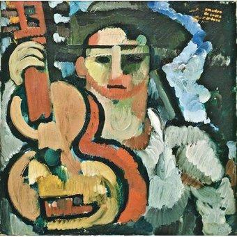 pinturas de retratos - Quadro -Cavaquinho, 1914-15- - Souza-Cardoso, Amadeo de