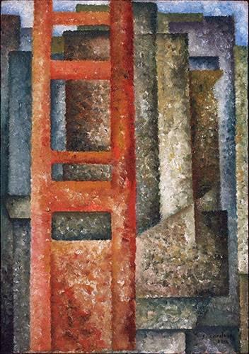 quadros-abstratos - Quadro -Pelas Janelas (Desdobramento-Intersecção)- - Souza-Cardoso, Amadeo de