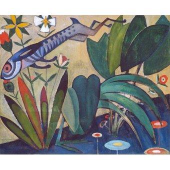 quadros de animais - Quadro -O Salto Do Coelho- - Souza-Cardoso, Amadeo de