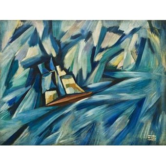 cuadros abstractos - Cuadro -La Chalupa, 1914-15- - Souza-Cardoso, Amadeo de