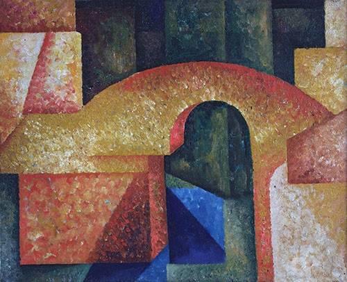 quadros-abstratos - Quadro -Ponte- - Souza-Cardoso, Amadeo de