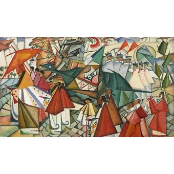 Quadros abstratos - Quadro -Corpus Christi Procession, 1913- - Souza-Cardoso, Amadeo de