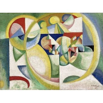abstracts paintings - Picture -Study B- - Souza-Cardoso, Amadeo de