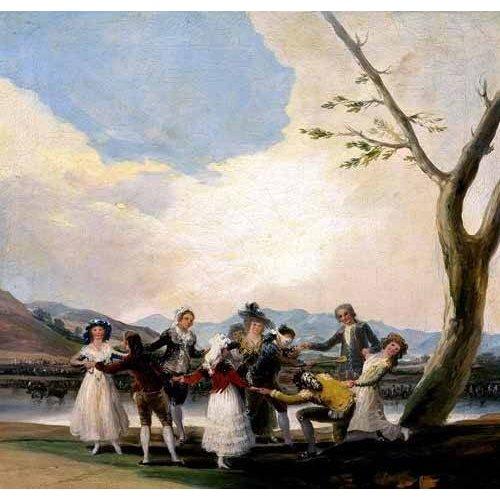 pinturas do retrato - Quadro -La gallina ciega-