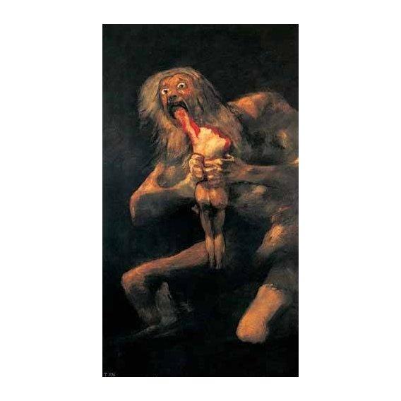 cuadros de retrato - Cuadro -Saturno devorando a un hijo(1821-23)-