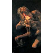 Quadro -Saturno devorando a un hijo(1821-23)-