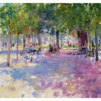 quadros de paisagens - Quadro -Tuileries, Paris (oil on canvas)- - Graham, Peter