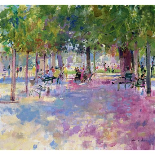 Quadro -Tuileries, Paris (oil on canvas)-