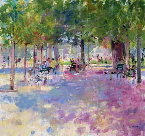 quadros-modernos - Quadro -Tuileries, Paris (oil on canvas)- - Graham, Peter