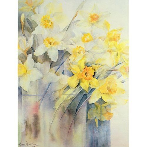 Quadro -Mixed Daffodils in a Tank-