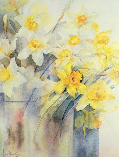 quadros-de-flores - Quadro -Mixed Daffodils in a Tank- - Armitage, Karen
