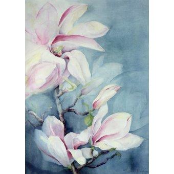 Quadros para sala de jantar - Quadro -Magnolia Soulangeana (vertical)- - Armitage, Karen