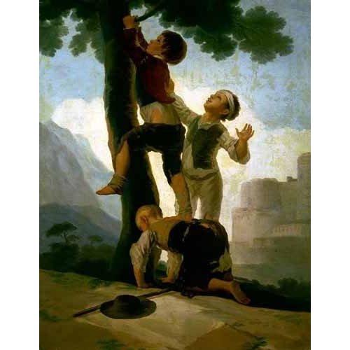 Quadro -Niños trepando a un árbol-