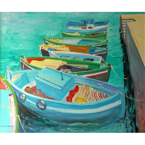 Quadro -Blue Boats, 2003-